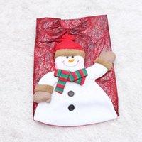 Decoraciones de Navidad Tela de árbol Clásico Muñeco de nieve Patrón Delantal Falda Mat Mat Dress Props for Party Shop (90 cm)