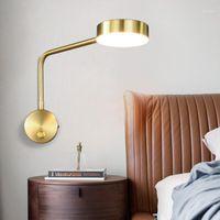 LED Duvar Işıkları Kol Döner Ev Modern Deco Yatak Odası Anahtarı LED Duvar Lambaları Livingroom İç Aydınlatma Başucu Yatak Odası Sconce1