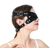 Sexy Leather Mask Punk Cosplay Blindfold Masquerade Erotic C...