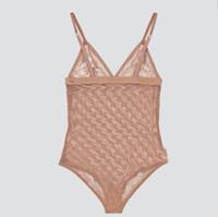 이탈리아어 봄 여름 새로운 높은 패션 체인 편지 레이스 Womens 수영복 탑스 고품질 검은 수영복