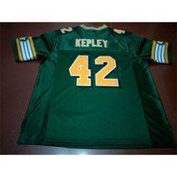 Benutzerdefinierte 604 Jugendfrauen Vintage Edmonton Eskimos # 42 Dan Kepley Football Jersey Größe S-4XL oder benutzerdefinierte Name oder Nummer Jersey