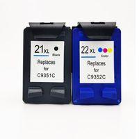 Mürekkep Kartuşları Etiket Kartuşu 21 22 XL Değiştirme Deskjet F300 F380 380 F2180 F2200 F2280 F4180 D23001