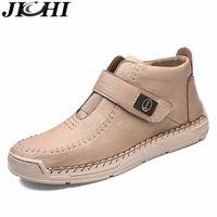 Jichi Designer Botas Hombres transpirable PU Cuero Tobillo Botas para hombre Top Calidad TRABAJO Botas de seguridad Hombres Moda Chaussure Homme 48 201204