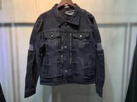 2021 Bahar Yeni Moda Erkek Tasarımcı Delik Dekorasyon Demin Ceket ~ Çin Boyutu 4XL Ceketler ~ Erkekler Için Güzel Tasarımcı Demin Ceket