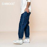 Simwood 2020 летние новые свободные прямые джинсы мужчины мода плюс размер негабаритные брюки мода стритюра плюс размер sj1302531