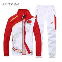 Licença porco homens esporte terno faixa de treino jogging set sweatsuit jaqueta trilha calças corredores olympia suor terno equipe sportwear 201188