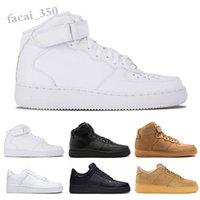 NIKE Air Force one 1 AF1 2021 الصيف forcs الأحذية السبابة الأسود القمح الأبيض ارتفاع الرجال النساء الرياضة رياضة الجري سكيت حجم 36-45 SC08