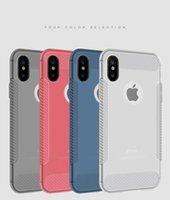 Per iPhone XR XS Max X 6S 7 8 Plus TPU Soft Phone Cell Phone Custodia Slim Ultra sottile Cover trasparente per Samsung S8 S9 Plus Nota 8 9