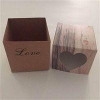 Ретро полоса дерева, получая сахарную коробку свадьбы праздник конфеты коробка вечеринка поставка любовь любовь подарочная коробка 0 23WC H1