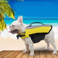 Dog Life Jacket Saver Safe Safel Swimsuit Preserver Pet Life Kamizelka Kurtka z Regulowany Pasek Regulowany Pas Luminous Wstążki 201030