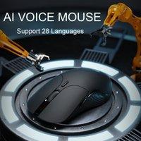 AI 음성 마우스 무선 마우스 인체 공학적 USB 광학 2.4GHz 1600 DPI PC 노트북 Mac 용 미니 Noiseless 마우스 LJ201006