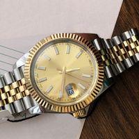 새로운 패션 데이트 그냥 최고 품질의 클래식 망 시계 자동 기계적 손목 시계 스테인레스 스틸 맨 디자인 시계 몬트르 reloj 41