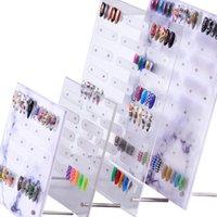 네일 아트 보여주는 홀더 마그네틱 대리석 네일 아트 분리형 컬러 카드 디스플레이 보드 아크릴 거짓 팁 디스플레이 스탠드 랙