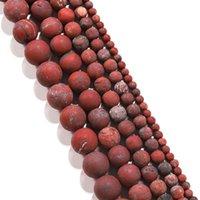 1strand الكثير الحجر الطبيعي مملة البولندية ماتي الأحمر بحي جاسبرز حبة جولة جوهرة فضفاضة فضفاض الخرز للمجوهرات صنع اللوازم h jllvis