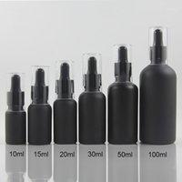 Yeni Ürün Koku Yağ Şişesi 1 OZ, Siyah / Buzlu Siyah 30 ml Uçucu Yağ Şişesi 100 adet Doldurulabilir1