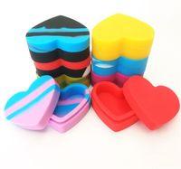 17 ملليلتر سيليكون الضروري النفط خزان أحمر أصفر الحب القلب شكل المكياج المعرض تخزين مربع التعبئة 3 5BSB J2