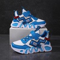 Novo Leathe de Childs Moda Sapatos Casuais Boys 'Sneakers Sneakers Child Boy Running Flats Marca Sapatos KDIS 12 13 14 Anos C1120