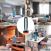 Nouveau design Télécommande sans fil Lampe de stérilisation ultraviolette Lampe bleue Cordon d'alimentation de 1,5 mètre Longues lumières multifonctionnelles noires