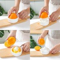 Beyaz Manuel Sıkacağı Turuncu Limon Mini Meyve Sebze Sıkacağı Mutfak Aksesuarları Çift Güverte Sıkacaklar Yüksek Kalite 2 4HR F2