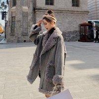 여성용 양모 블렌드 2021 가을 겨울 여성 코트 세련된 여성 두꺼운 따뜻한 캐시미어 재킷 캐주얼 소녀 Streetwear 도매