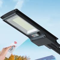 300W 600W Lâmpada de rua solar iluminação ao ar livre Luz de estrada do sensor de radar com controle remoto de pólo 492led 967led