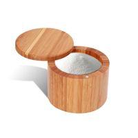 وعاء التوابل الخشبية الخيزران التوابل شاكر السكر الملح الفلفل الأعشاب تخزين زجاجة التوابل جرة للمطبخ 267 N2