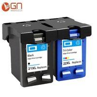 Cartridges GN Compatibel 21XL 22XL Cartridge Zwart Kleur Vervanging voor 21 22 XL Deskjet F2180 F2200 F2280 F4180 F300 F380