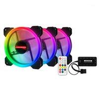 Fans Coolings 3-pack LED Koelventilator RGB 120mm 12V W / Afstandsbediening voor Computer Case PC CPU1