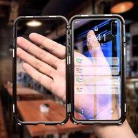 Tam Manyetik Adsorpsiyon Mobil Cep Telefonu Vaka İçin Samsung Galaxy S20 S10 Artı S9 Not 20 Ultra HD Temizle Çift Temperli Cam Kılıf Taraflı