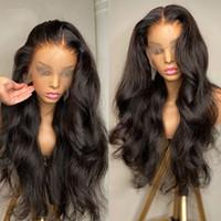 Parrucche anteriori dell'onda del corpo 13x4 precipitate con i capelli del bambino Capelli brasiliani dei capelli umani lunghi parrucche frontali del pizzo per le donne nere