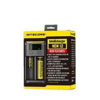 Cargador de batería Nueva versión Nitecore para 16340 10440 AA AAA 14500 18650 26650 Cargador de batería I2 Cargador