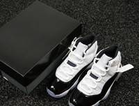 Haute Qualité 11S Concord 45 Homme Chaussures de concepteur de basket-ball de luxe XI Blanc Black Fashion Sport Formateurs avec une vraie fibre de carbone