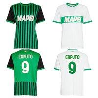 2020 2021 сезон Sassuolo Home / outs Футбол Джерси 9 # CapuTo 25 # Berardi Качественная толстовка человека (выберите Flocking)