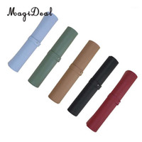 Pure Color Laptop Mice Pad Double Side PU Leather Mouse Keyb...