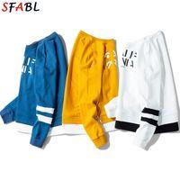 SFAB Herbst Warme Fleece Hoodies Männer Sweatshirts Neue Patchwork Weiße Farbe Pullover Man Hip Hop Streetwear Hoodie Herren Top 201020