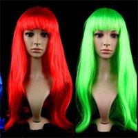 Longa peruca pura de cabelo puro peruca perucas unisex vestir headgear para festa de máscaras nova chegada 10jh e1