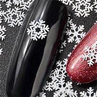 Ultradein Nagelaufkleber Pailletten Weiße Schneeflocke Serie Liefert Maniküre Ornamente Mode Aufkleber Weihnachtsdekorationen Heißer Verkauf 2 8mz K2