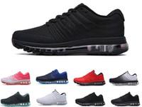 max 2017 10 cores KPU homens mulheres Running Shoes Mens Qualidade pé casuais Sapatos Triplo Sapatilhas brancas pretas formadores exteriores dimensionar 36 a 45