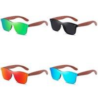 GM fatti a mano rosso occhiali in legno UV400 Occhiali da sole specchio polarizzati Uomo Donne Design vintage oculos de sol masculino j1211