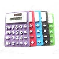 Mini Calculadora Dobrável Silicone Calculadora Energia Solar Creative Magnetic Student Card Calculadora Escola Escola Ferramenta DDF4510