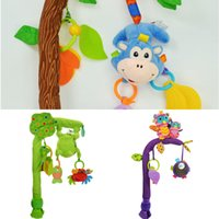 Meng Bear Bambino Rattles Giocattoli Mobileili Bendibile Culla infantile Appeso Letto giocattolo Bell Bell Music + Teaters Documento Ruscole per 0-12 mesi Baby Z1211