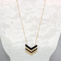 قلادة القلائد v شكل المعادن السهم سحر قلادة طويلة الذهب سلسلة طوق اكسسوارات هندسية مجوهرات
