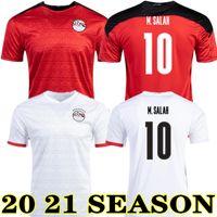 M. Salah 20 21 Egitto Home Red Soccer Jersey Kahraba A. Hegazi Ramadan 2020 2021 Egitto via camicia da calcio bianco