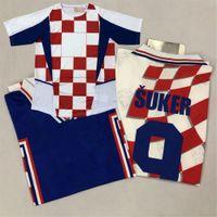 Retro Classic Soccer Jerseys Simic Olic Boban Kovac Stanic Soldo Jarni Boksic Suker Prosinecki National Team 1998 2002 camisa de futebol retrô