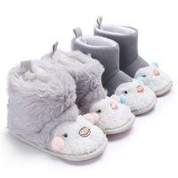 2020 зимняя хлопчатобумажная ткань животных детские кроватки обувь теплые плюшевые крытые мягкие подошвы новорожденные детские туфли первые ходунки1