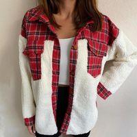 YICIYA Vintage Teens Girls Wool Plaid Patchwork Jacket Women Christmas Warm Winter Outerwear Coat New Brand Design Casual Loose