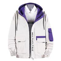 남성용 재킷 망가 겨울 캐주얼 outwear 지퍼 통기성 툴링 코트 코튼 구멍 데님 코트 패션 십대