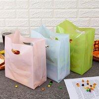 50 шт. Красочный полиэтиленовый пакет с ручкой торт упаковки сумки маленький конфеты сумка для хранения1
