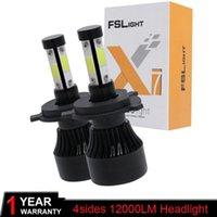 X7 Auto Auto H4 H7 LED fari 6500K 12000LM 12V Bulbs COB Hi Lo BEA BEAM 2/3 Diodi Automobili bianche vicino a Light Light1