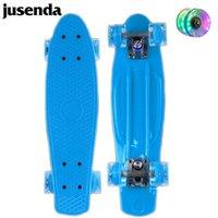 Skateboarding Jusenda 22inch Cruiser Skateboard Enfants Scooter Mini Longboard Skate Boards Adultes Retro Penny Board Roulements de camion roue